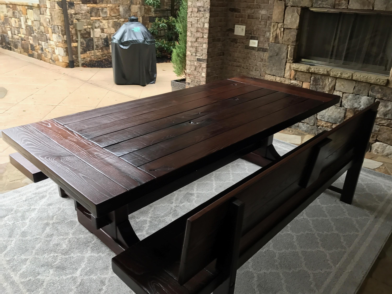 Rustic Trades outdoor table