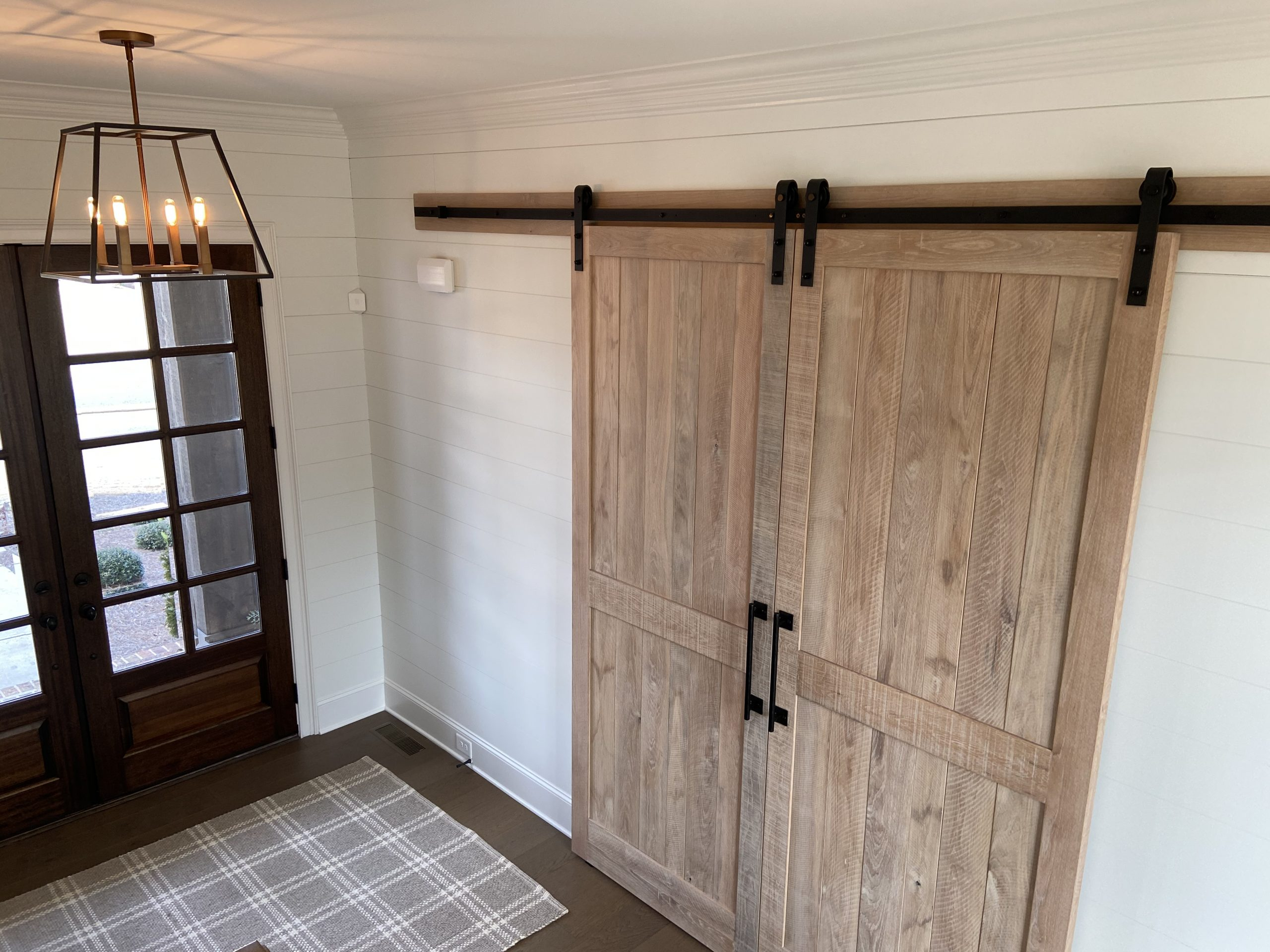 2 custom barn doors closed