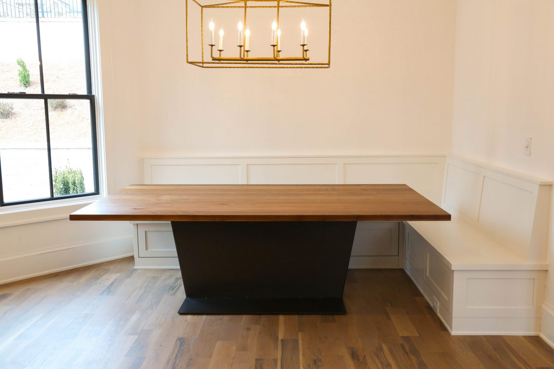 custom contemporary table in kitchen